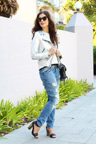 asos jeans - Zara jacket - 31 Phillip Lim bag - Karen Walker sunglasses