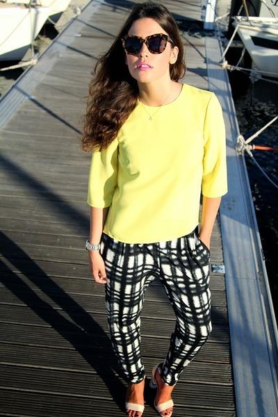 asos necklace - Mango bag - asos heels - asos pants - Michael Kors watch