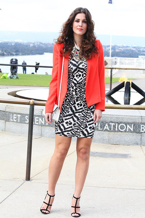 Mango blazer - asos dress - Mango bag - Sportsgirl necklace - asos heels