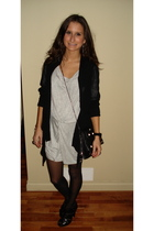 Tristan sweater - Zara dress - BCBG purse - Michael Kors accessories