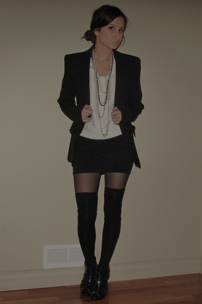 Zara blazer - 725 shirt - American Apparel skirt - Aldo accessories