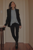 vintage blouse - Zara blazer - H&M shoes - Urban Outfitters necklace