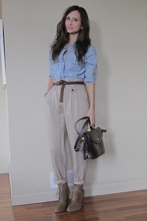 Zara blouse - Zara pants - Zara shoes - vintage purse