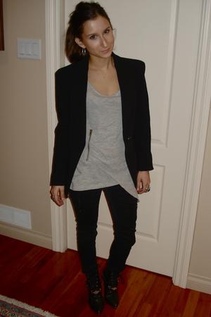 Zara blazer - 725 shirt - H&M boots