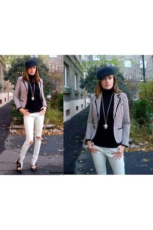 Zara blazer - moto jeans - Zara swimwear - DKNYC pumps