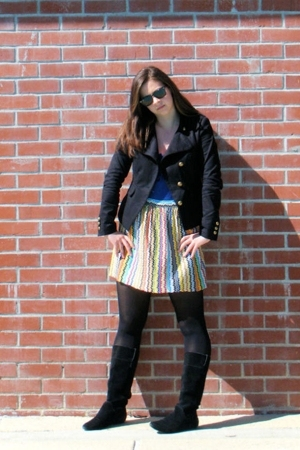 Ray Ban sunglasses - H&M jacket - Micheal Stars shirt - vintage skirt - Urban Ou