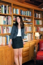 H&M blazer - lux uo shirt - ben sherman skirt - alexis bittar bracelet
