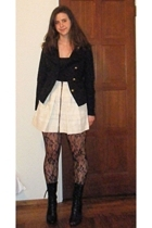 H&M jacket - See by Chloe skirt - Urban Outfitters tights - Jeffery Campbell sho