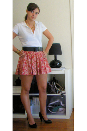 Lacoste shirt - Forever21 skirt - Kors by Michael Kors shoes - vintage necklace