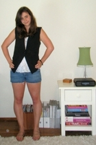 forever 21 vest - Urban Outfitters shirt - Seven For All Mankind shorts - Roxy s