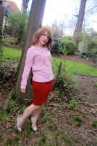 clingy skirt - target sweater - aldo pumps