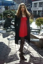 forever 21 dress - random coat - HUE accessories - vintage accessories