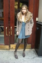 Zara dress - vintage coat - Max Studio shoes