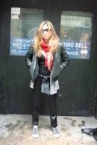 scarf - Vinatge jacket - top - Zara panties