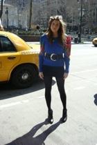vintage sweater - Zara skirt - H&M tights - vintage belt - H&M boots