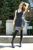 H&M stockings - HUE tights - H&M dress - forever 21 shoes