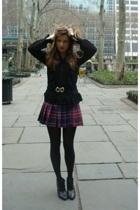 Zara blouse - vintage belt - Vinatge skirt - H&M boots