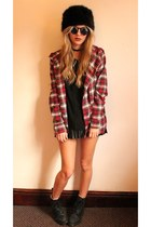 H&M hat - Lovestruck shirt - Lashes of London skirt