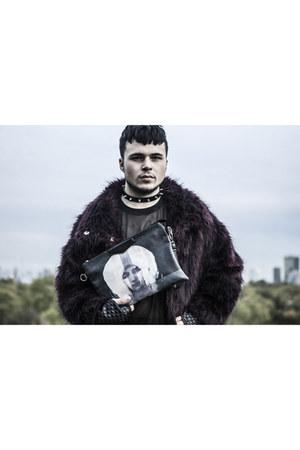 Buffalo shoes - fur Topshop coat - Ebay bag