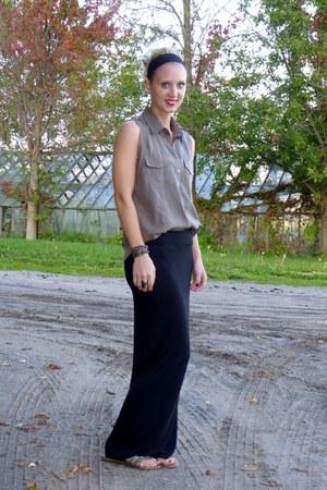 thrifted shirt - H&M skirt