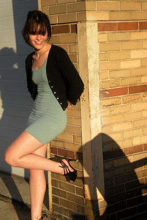 sweater - American Apparel dress - shoes