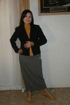 mustard Style & Co wedges - black black blazer ann taylor blazer