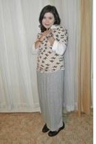 franco sarto loafers - grey skirt Forever 21 skirt - Forever21 blouse