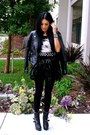 Black-gojane-boots-black-faux-leather-forever-21-jacket-coral-tj-maxx-bag