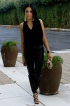 black Shoedazzle heels - camel sequins Forever 21 bag