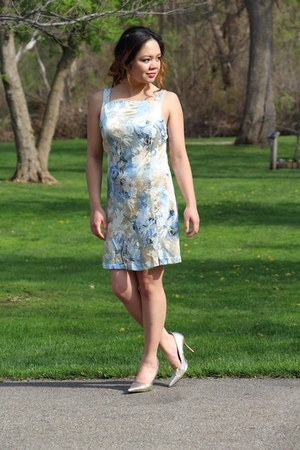 light blue thrifted dress