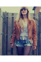 bronze biker vintage jacket