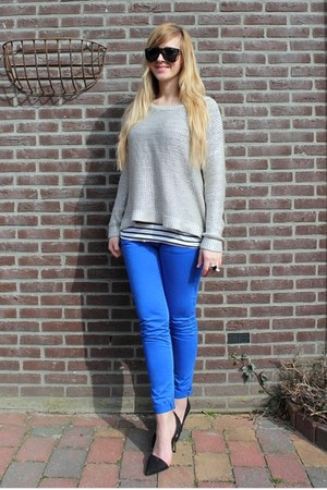 blue Zara pants - silver H&amp;M Trend jumper
