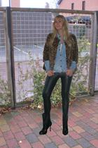 H&M jacket - Zara blouse - H&M shirt - Bershka pants - asos shoes - Zoppini & fa