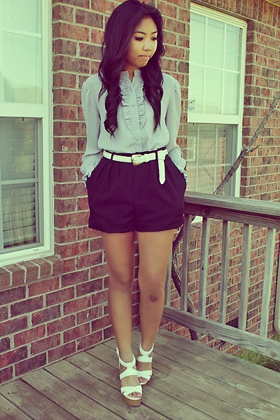 High Waisted Shorts With Belt