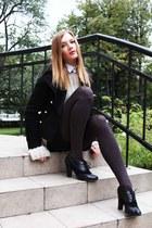 Zara coat - Equipment shirt - Zara shorts