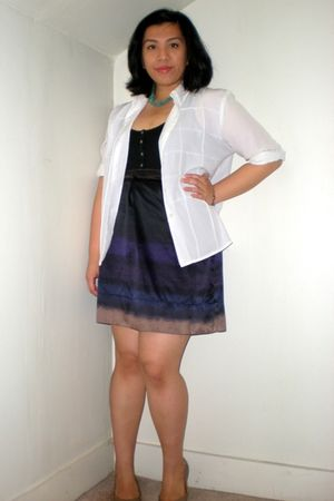 white blouse - black Old Navy top - purple Target skirt