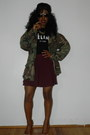 Urban-outfitters-hat-thrift-jacket-shopjeeencom-shirt-h-m-skirt