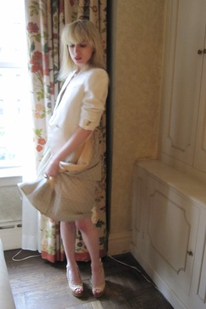 camel chain Chanel wedges - heather gray rhinestone Marc by Marc Jacobs dress