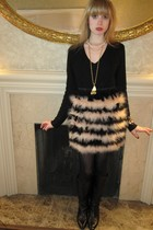 black Ralph Lauren sweater - black 31 phillip lim skirt - white necklace - gold