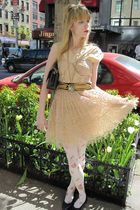 pink Frock by Tracy Reese dress - black vintage belt - white vintage necklace -
