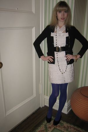 sweater - Marc by Marc Jacobs dress - vintage chanel belt - Vintage costume neck