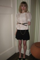 See by Chloe blouse - milly top - Juicy Couture skirt - belt - Vintage costume e