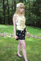 white 31 phillip lim vest - white Victorias Secret top - black Miu Miu skirt - w