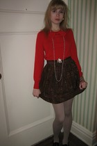 Piazza Sempione top - vintage Gloria Sachs skirt - Vintage costume earrings - Vi