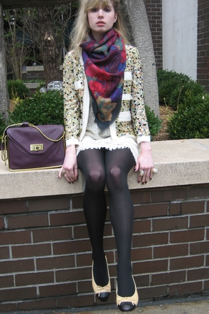 31 phillip lim jacket - cynthia steffe dress - Vintage Saldarini scarf - Vintage