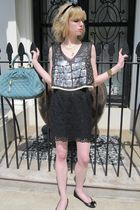 black sequined 31 phillip lim blouse - black mouse Marc by Marc Jacobs shoes