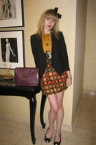 Helmut Lang jacket - See by Chloe dress - vintage chanel belt - Vintage costume