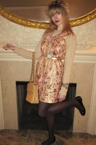 beige Ralph Lauren sweater - pink 31 phillip lim dress - gold vintage belt - gol