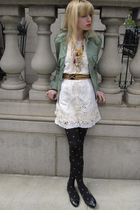 green Marc by Marc Jacobs jacket - white Gold Hawk dress - black vintage belt -
