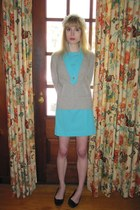 heather gray banana republic sweater - turquoise blue vintage martha manning ori